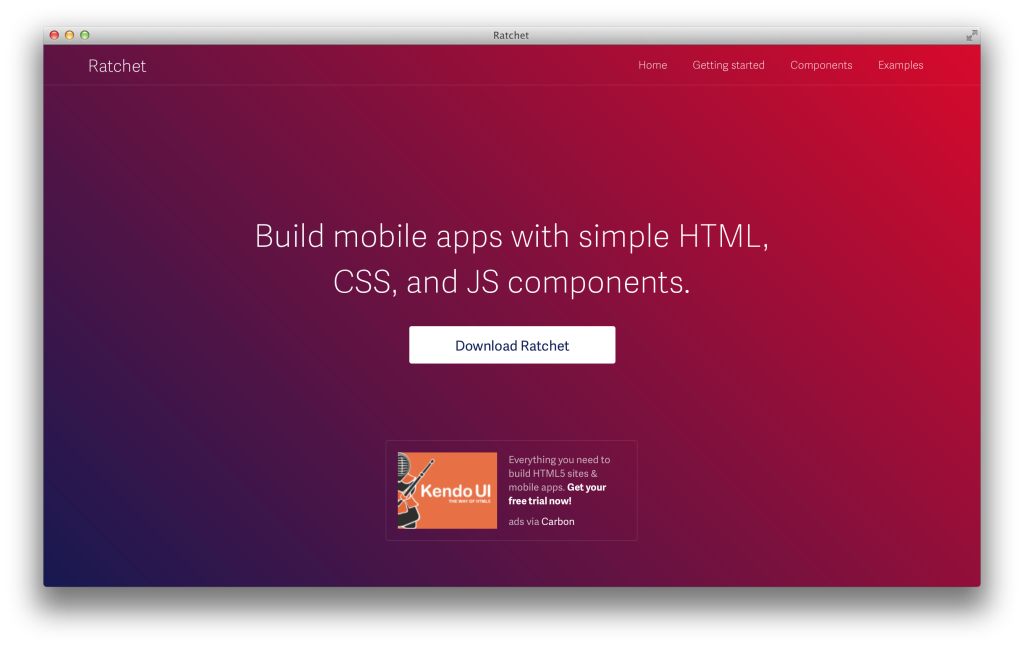 Ratchet 2.0, Mobile CSS Framework by Bootstrap Organisation